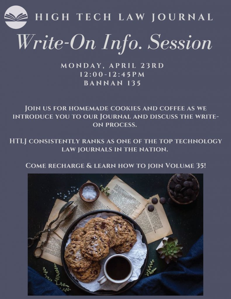Volume 35 Write-On Informational Session